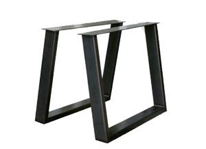 metalen tafelonderstel u schuin